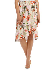 Skirt Hi Low Print