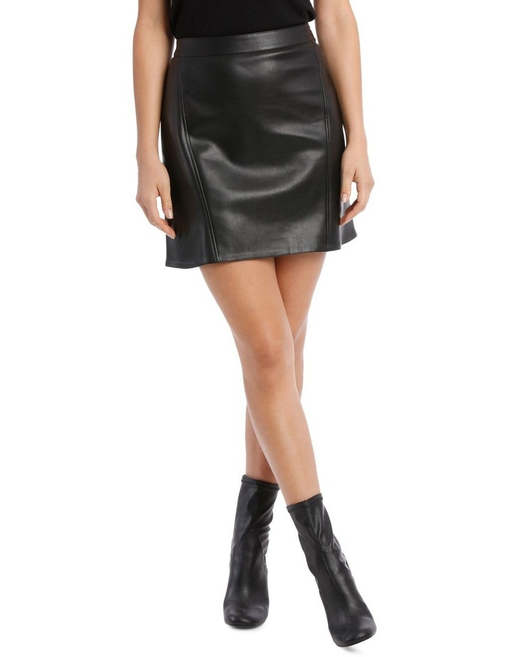 Skirt Pleather with Side Zip image 1