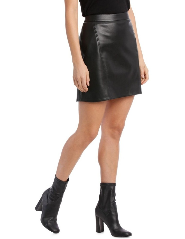 Skirt Pleather with Side Zip image 2