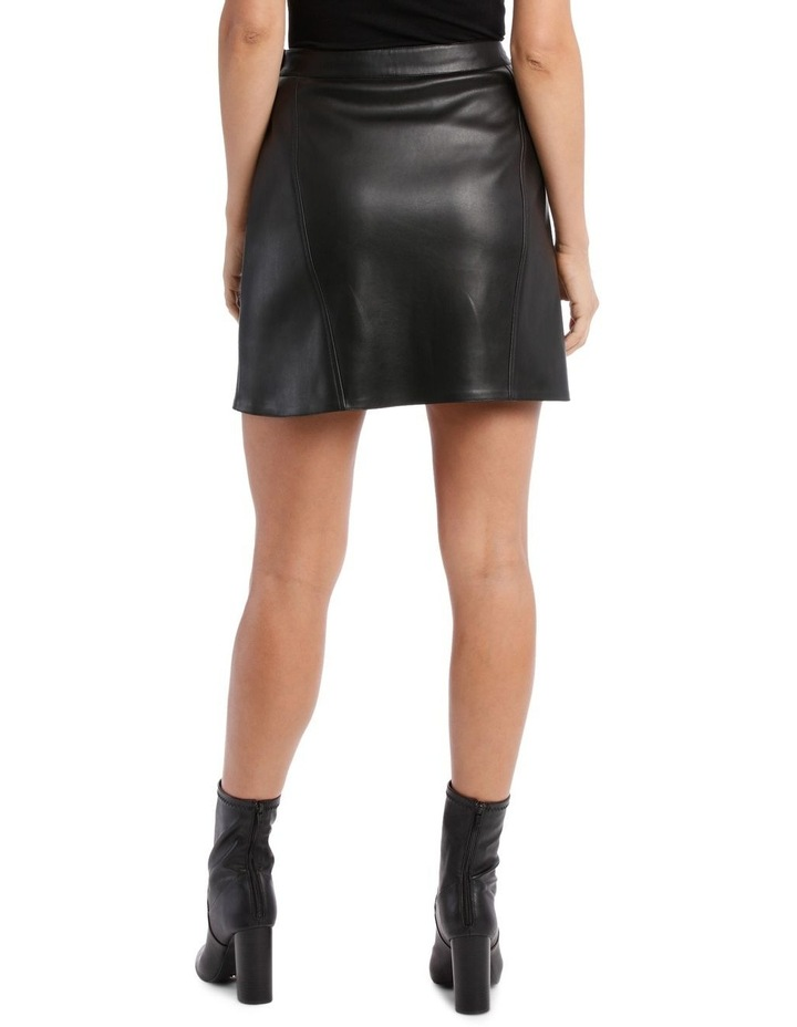 Skirt Pleather with Side Zip image 3