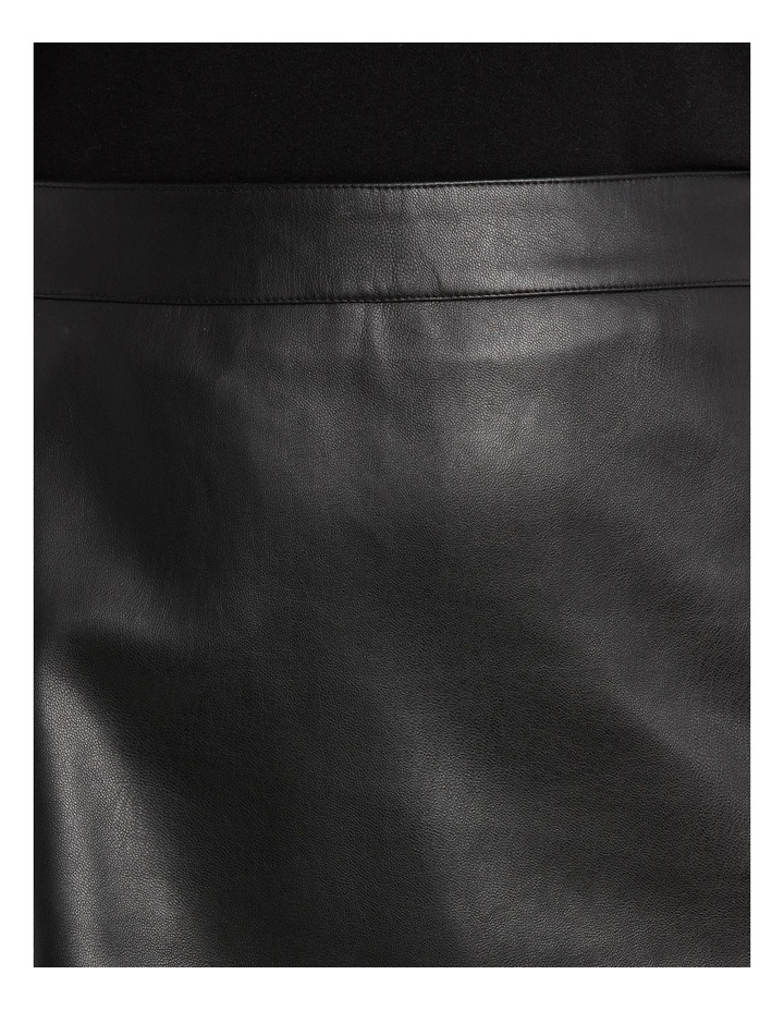 Skirt Pleather with Side Zip image 4
