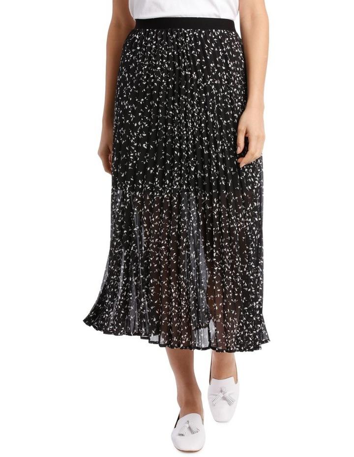 Ditsy Pleat Skirt image 1