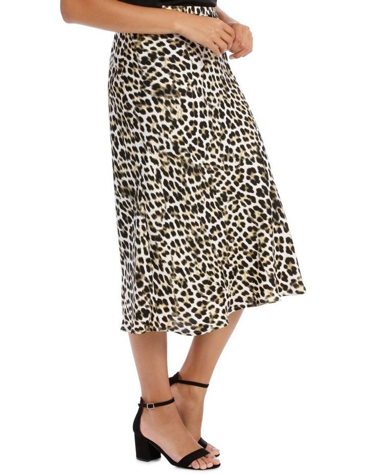 Skirt Leopard Print Bias Cut image 2