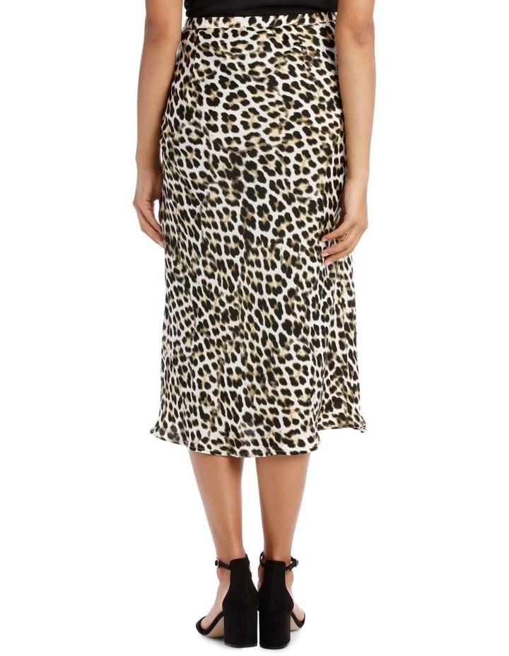Skirt Leopard Print Bias Cut image 3