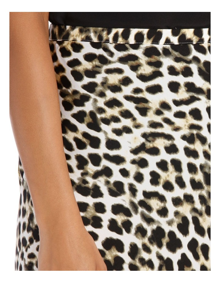 Skirt Leopard Print Bias Cut image 4