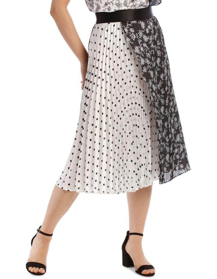 Pleated Wrap Spliced Skirt image 1