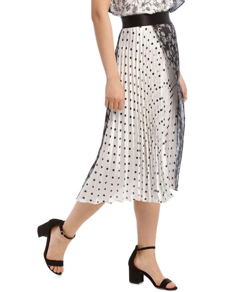 Pleated Wrap Spliced Skirt image 2