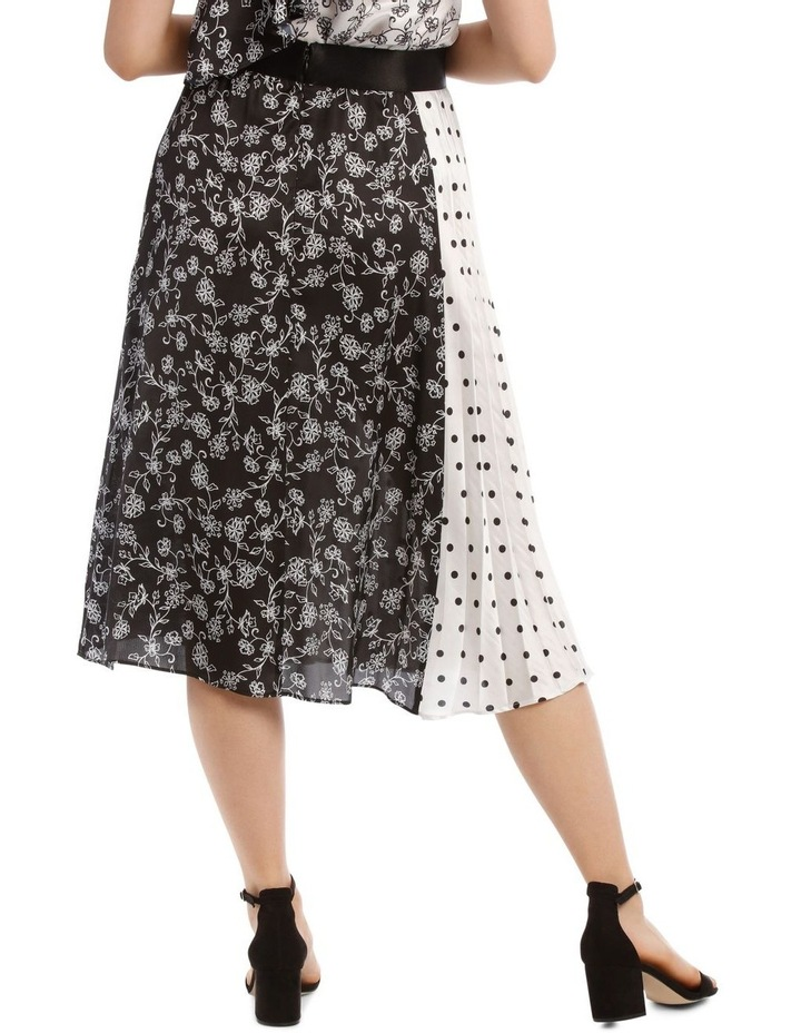Pleated Wrap Spliced Skirt image 3