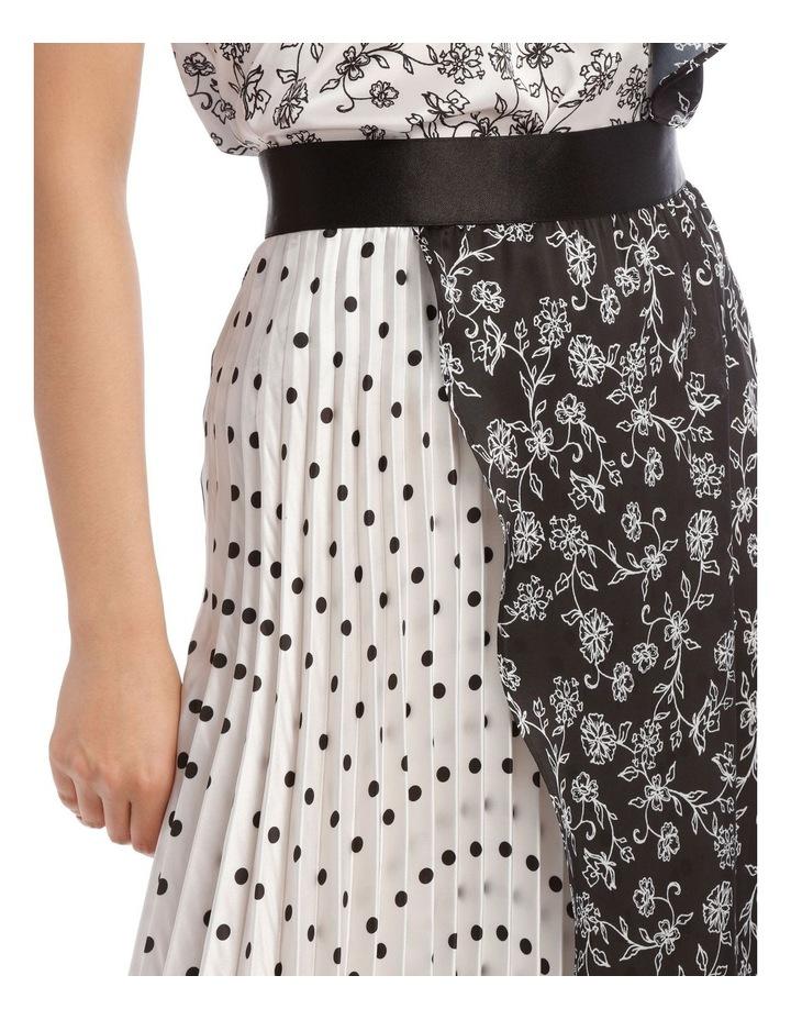 Pleated Wrap Spliced Skirt image 4