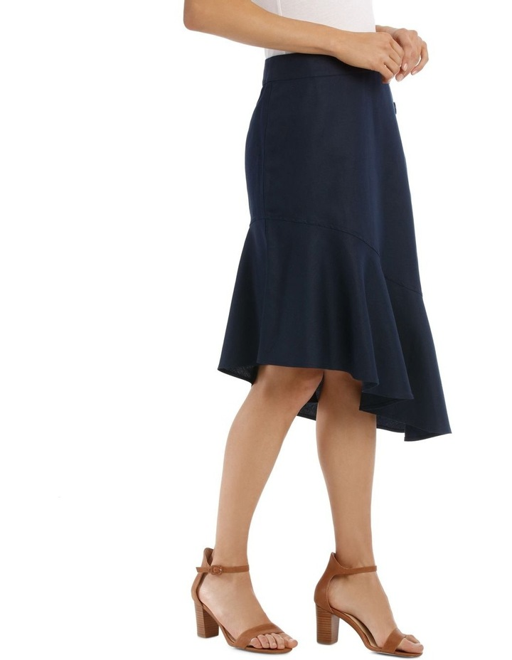Asymmetrical Skirt With Side Button Detail image 2