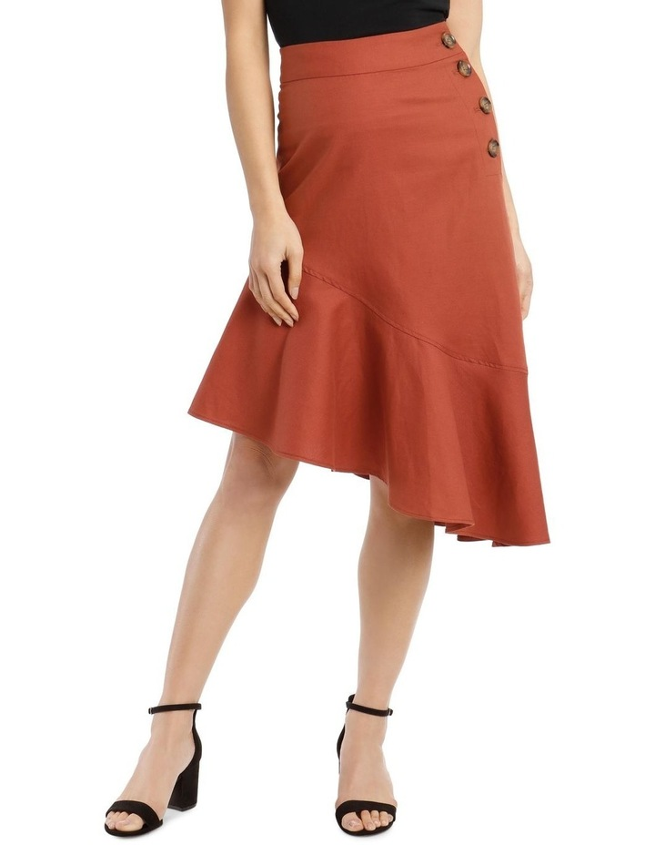 Asymmetrical Skirt With Side Button Detail image 1
