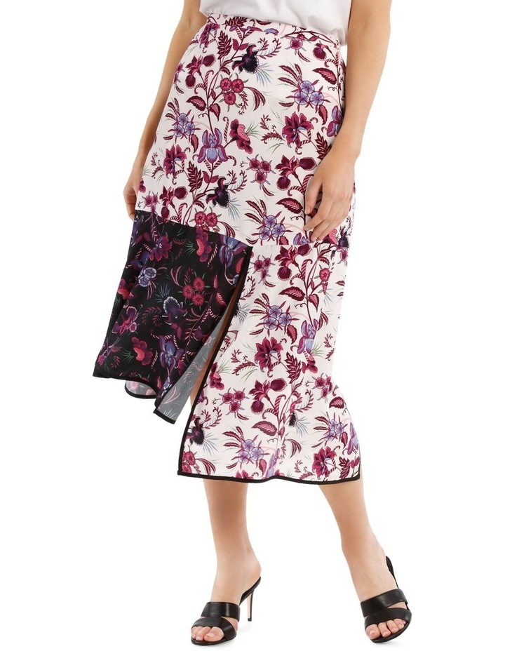 Panelled Printed Spliced Skirt image 1
