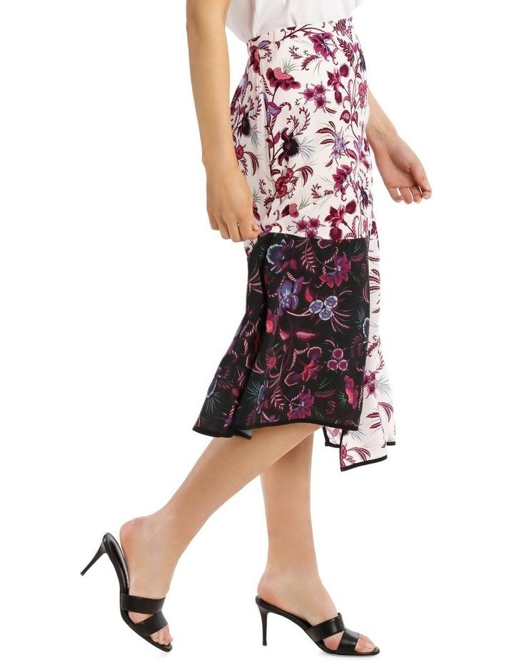 Panelled Printed Spliced Skirt image 2