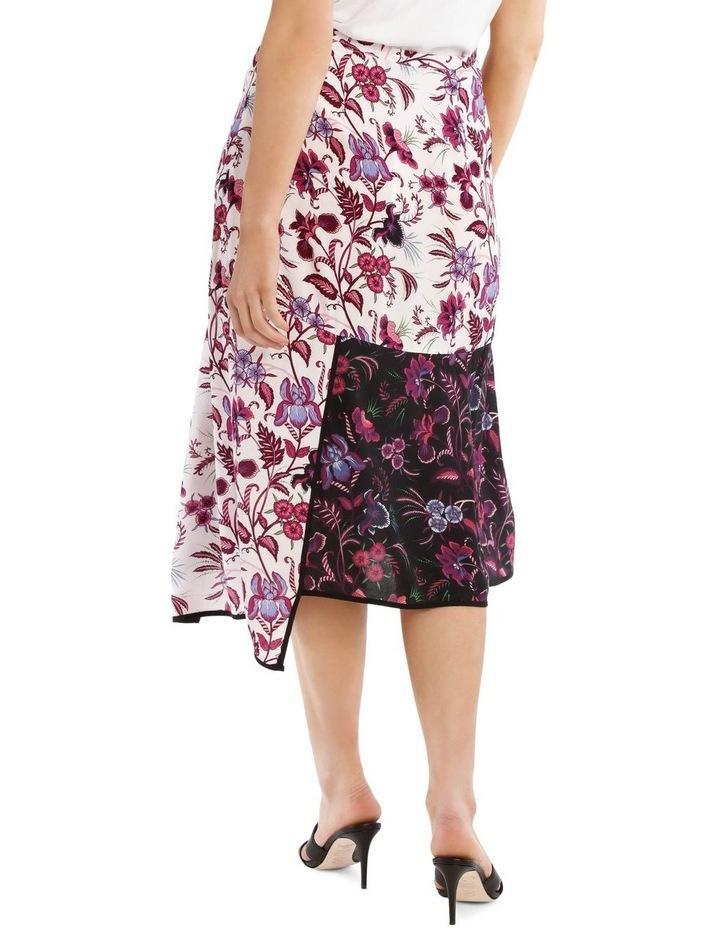 Panelled Printed Spliced Skirt image 3
