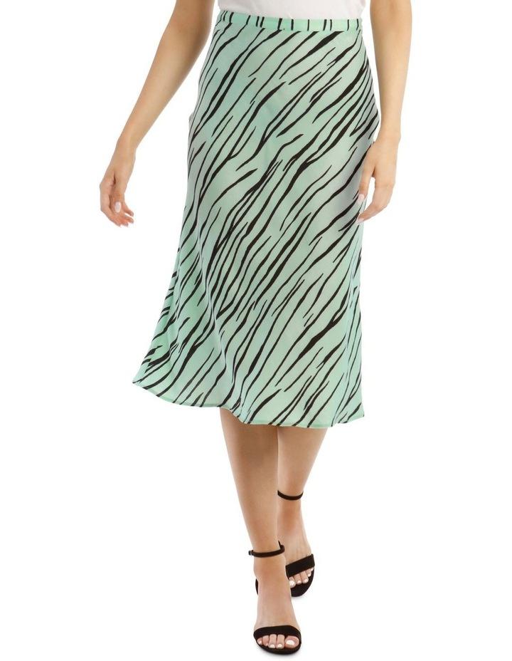 Zebra Printed Bias Skirt image 1