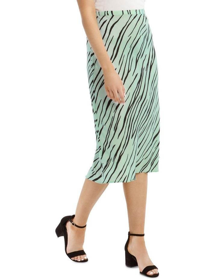 Zebra Printed Bias Skirt image 2