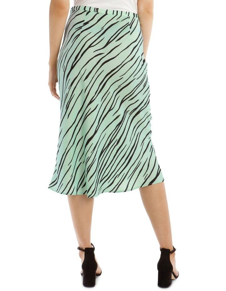Zebra Printed Bias Skirt image 3