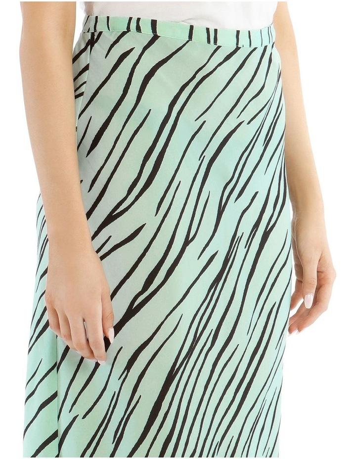 Zebra Printed Bias Skirt image 4