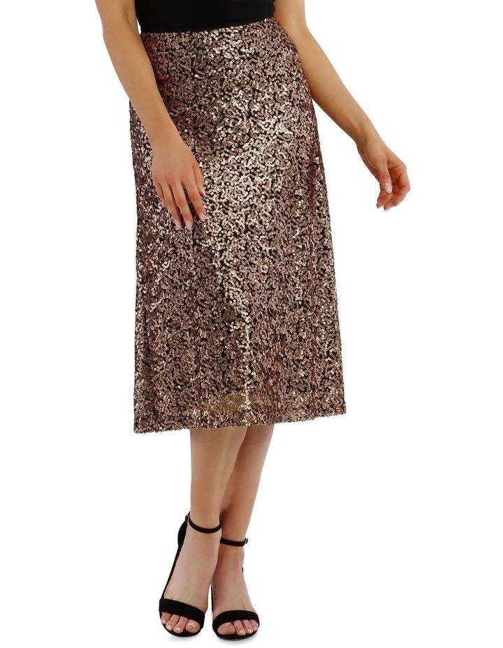 Sequinned Midi Skirt image 1
