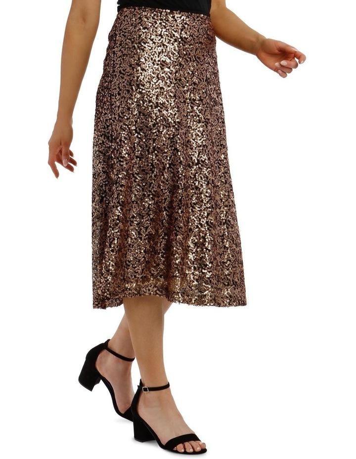 Sequinned Midi Skirt image 2