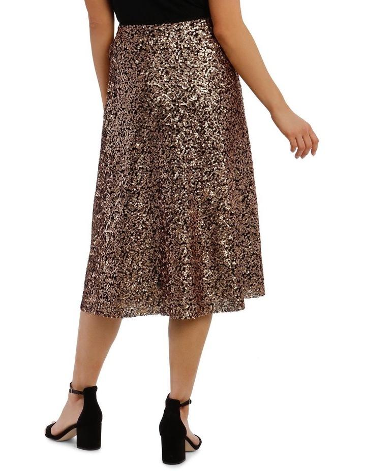 Sequinned Midi Skirt image 3