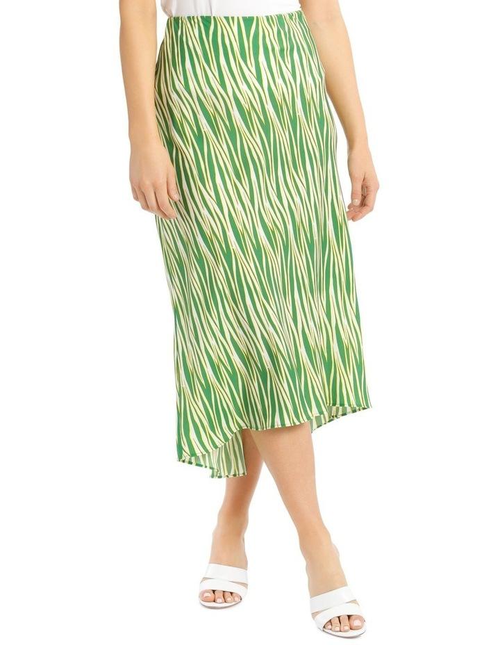 Printed Zebra Hi Low Bias Skirt image 1