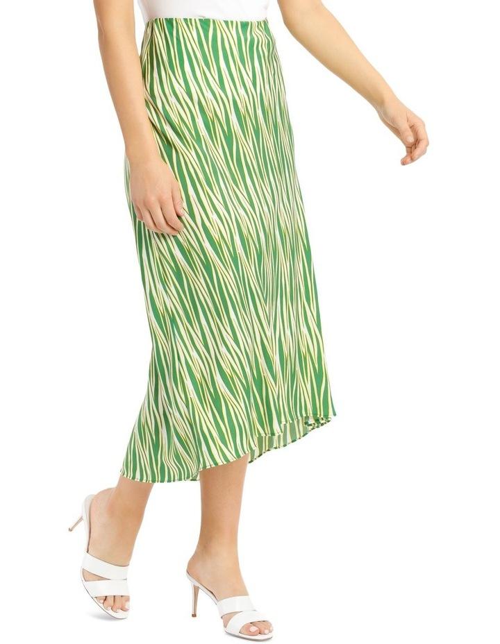 Printed Zebra Hi Low Bias Skirt image 2