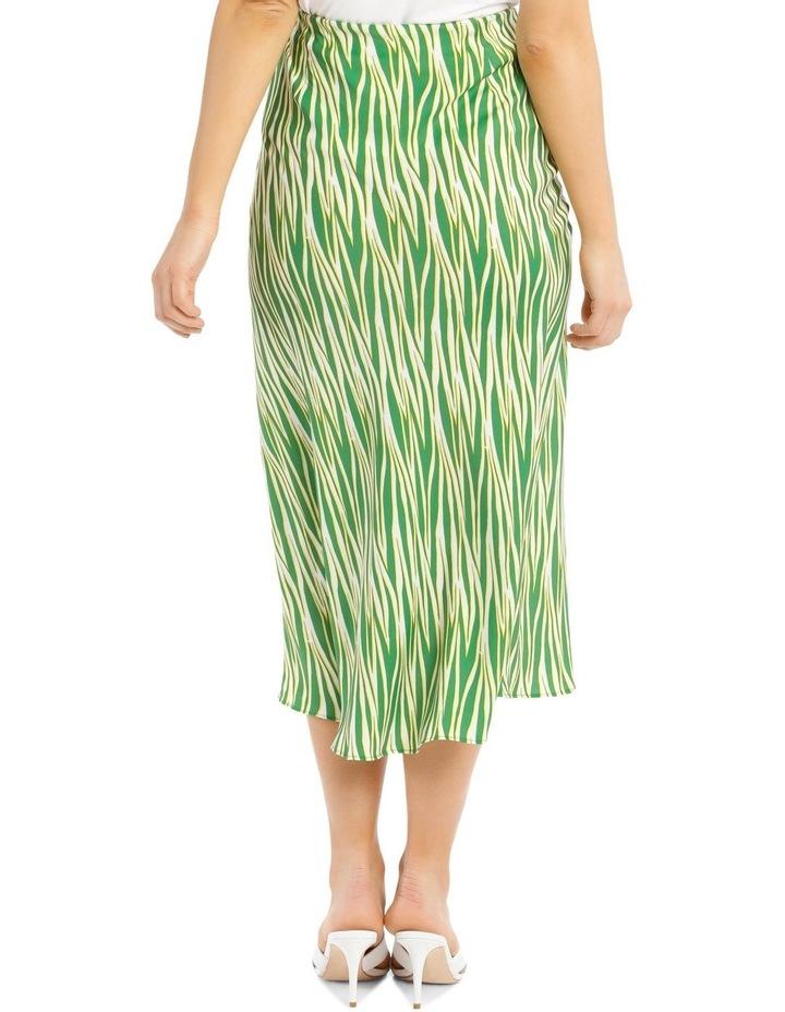 Printed Zebra Hi Low Bias Skirt image 3