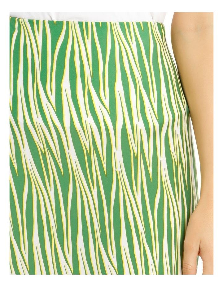 Printed Zebra Hi Low Bias Skirt image 4