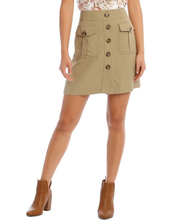 Bias Cut Skirt With Front Pockets image 1