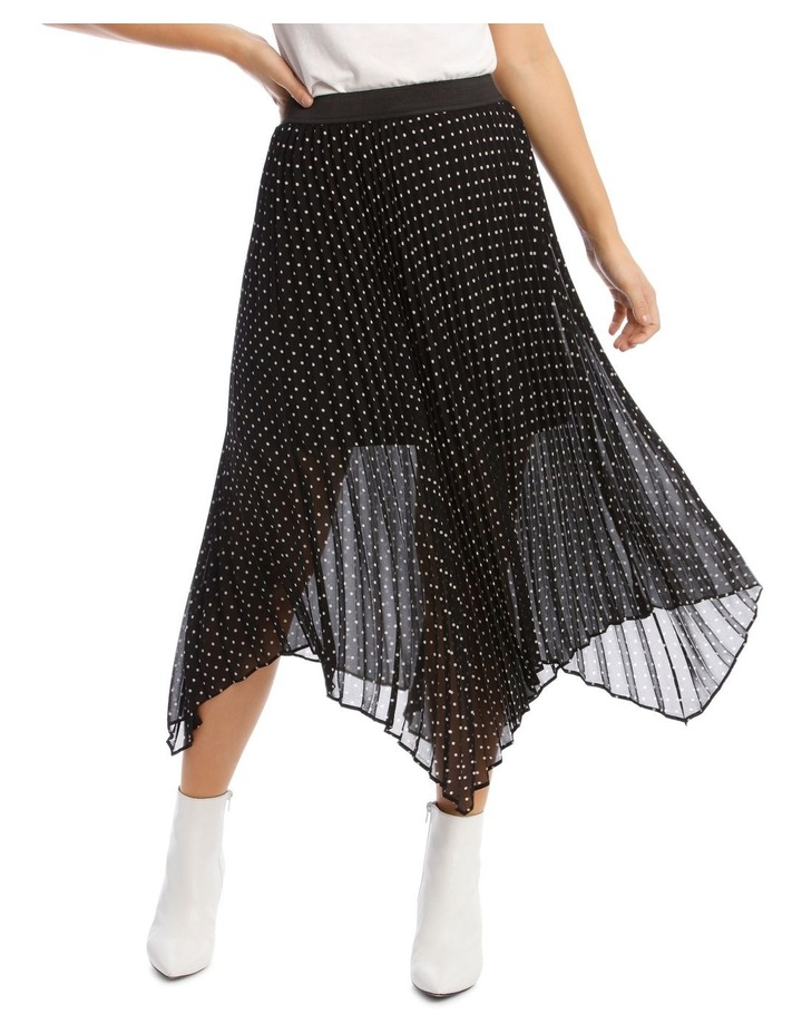 Skirt Pleated Spot High Low image 1