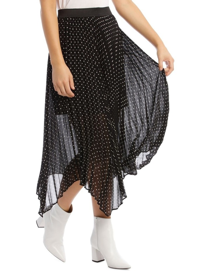 Skirt Pleated Spot High Low image 2