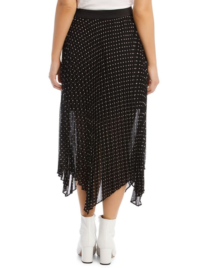 Skirt Pleated Spot High Low image 3