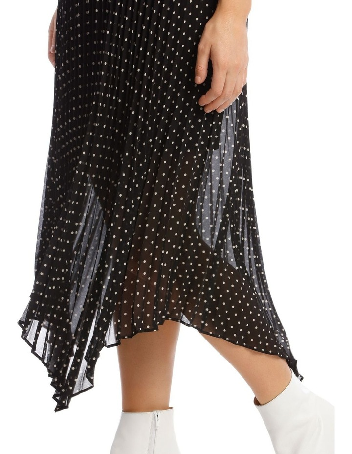 Skirt Pleated Spot High Low image 4