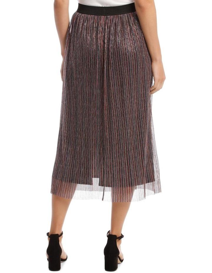 Pleated Lurex Stripe Skirt image 3