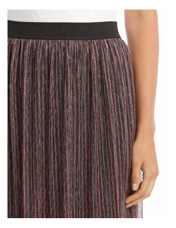 Pleated Lurex Stripe Skirt image 4