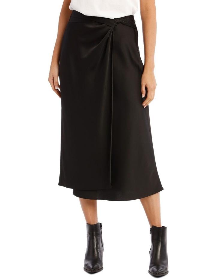 Black Satin Skirt image 1