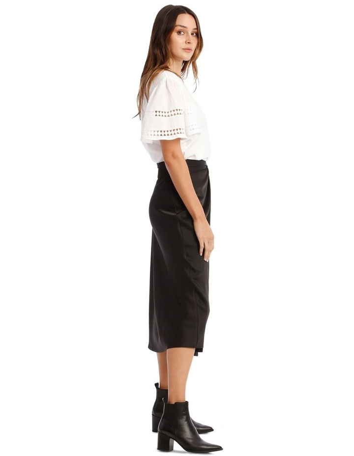 Black Satin Skirt image 2