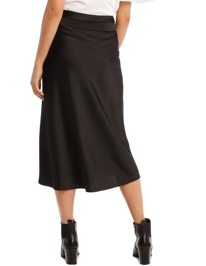Black Satin Skirt image 3