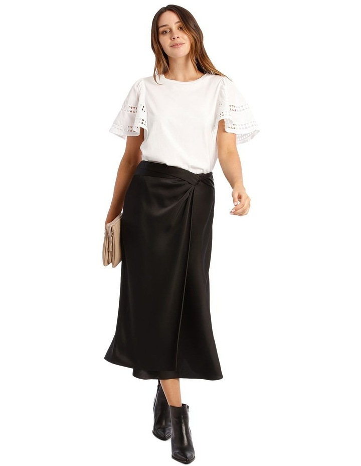 Black Satin Skirt image 5