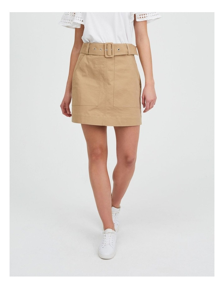 Utility Skirt in Nougat image 1