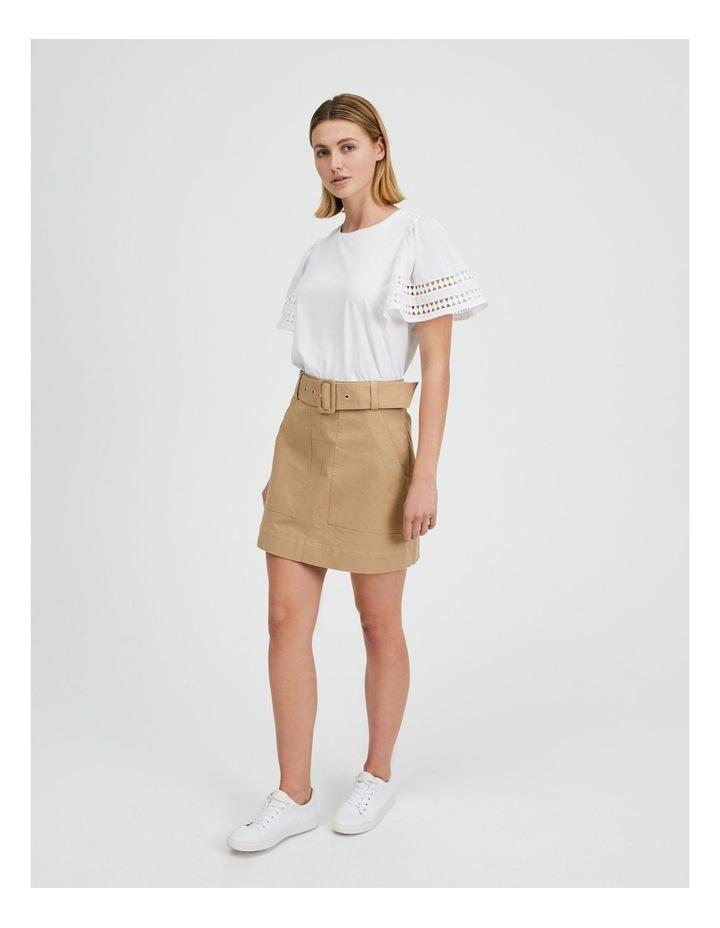 Utility Skirt in Nougat image 2