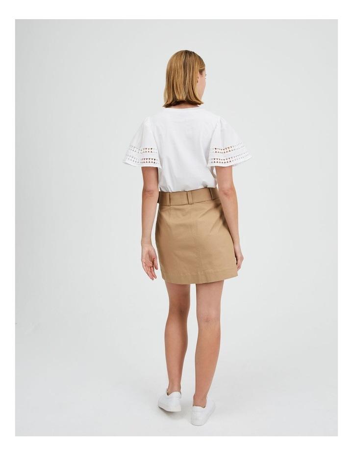 Utility Skirt in Nougat image 3