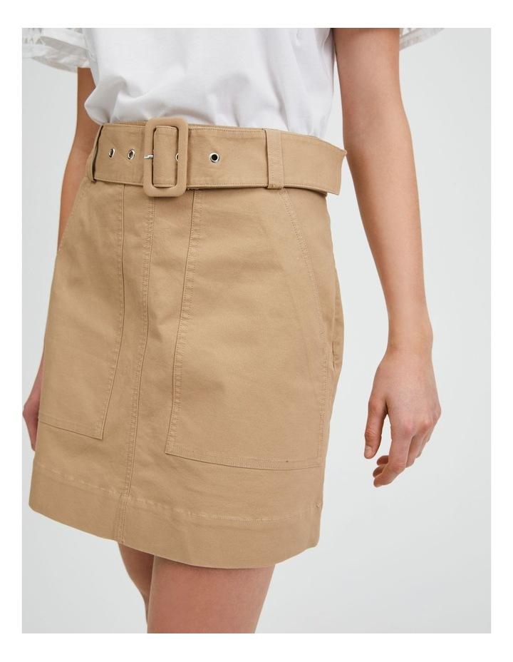 Utility Skirt in Nougat image 4