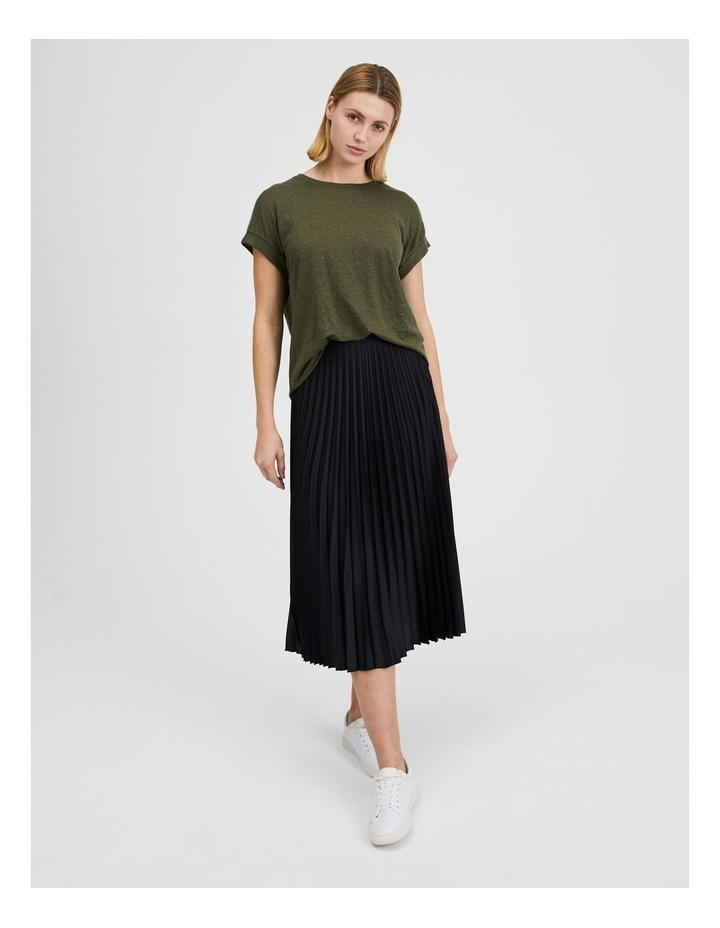 Pleated Midi Skirt image 1