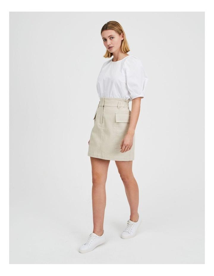 Cargo Mini Skirt Creamy image 2
