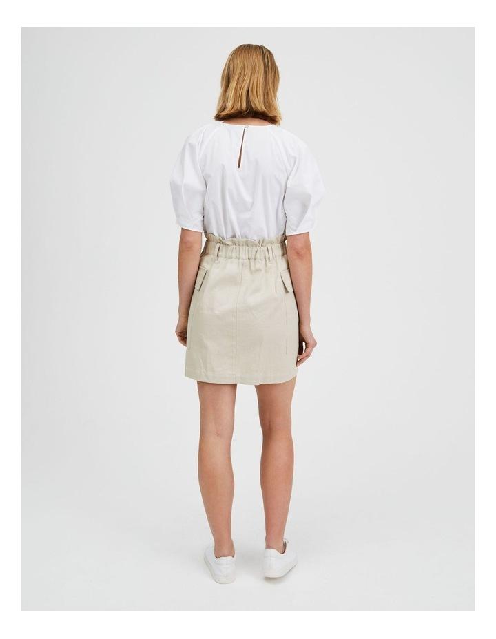 Cargo Mini Skirt Creamy image 3