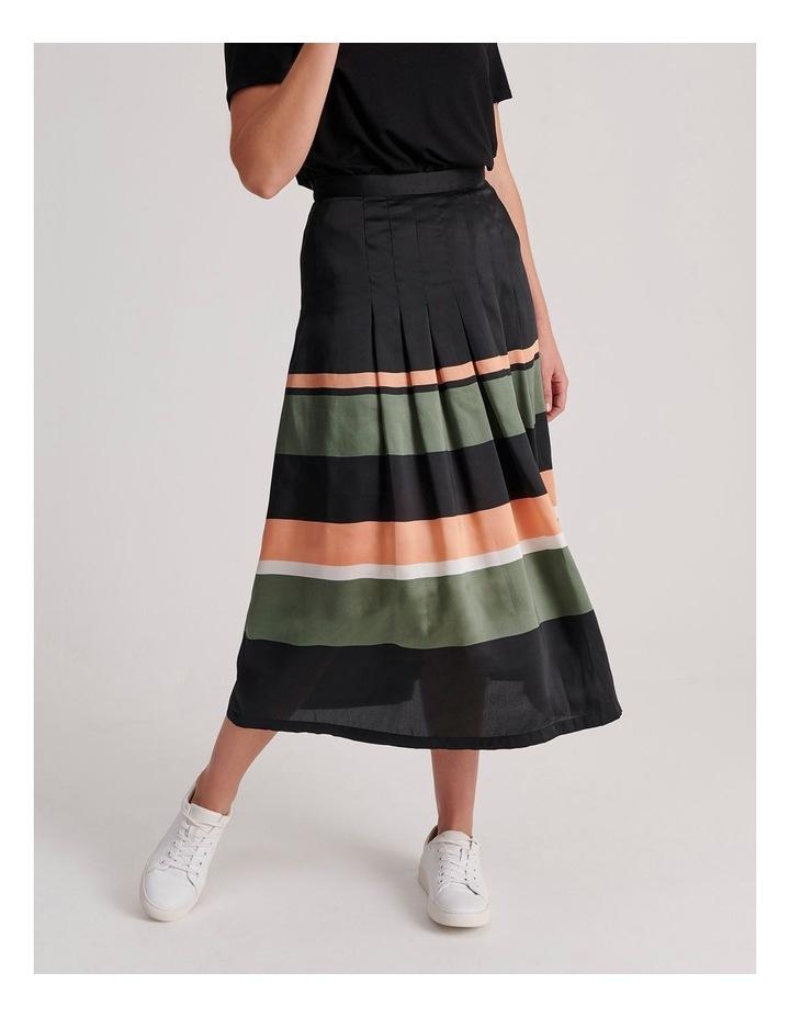 Tuck Detail Midi Skirt image 1
