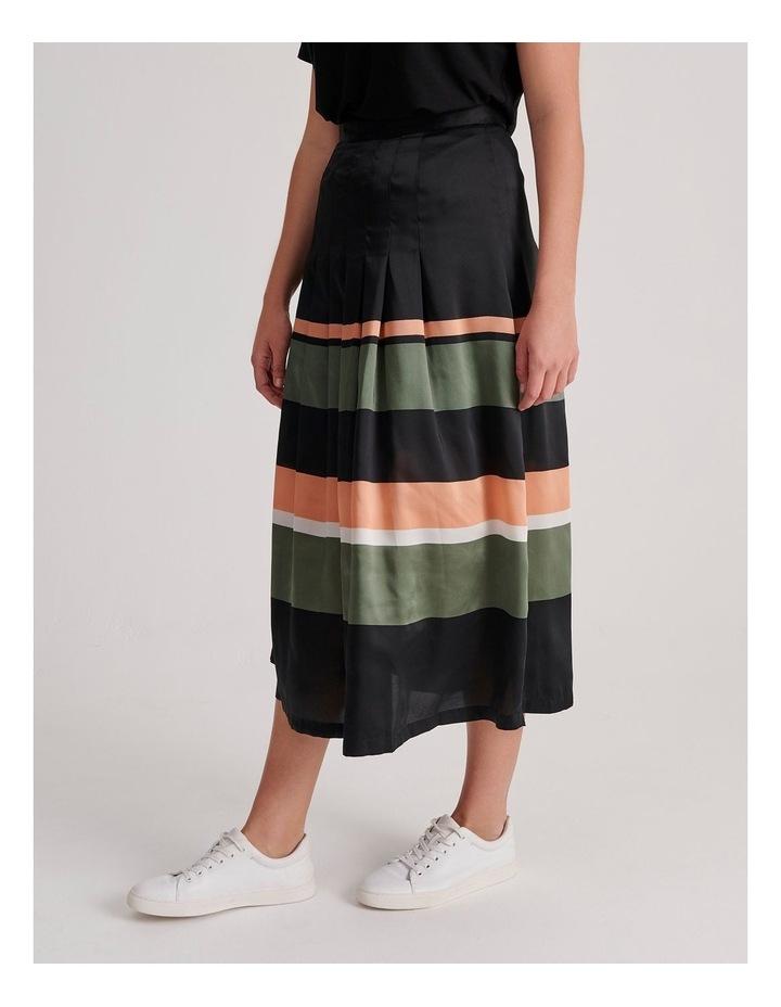 Tuck Detail Midi Skirt image 3