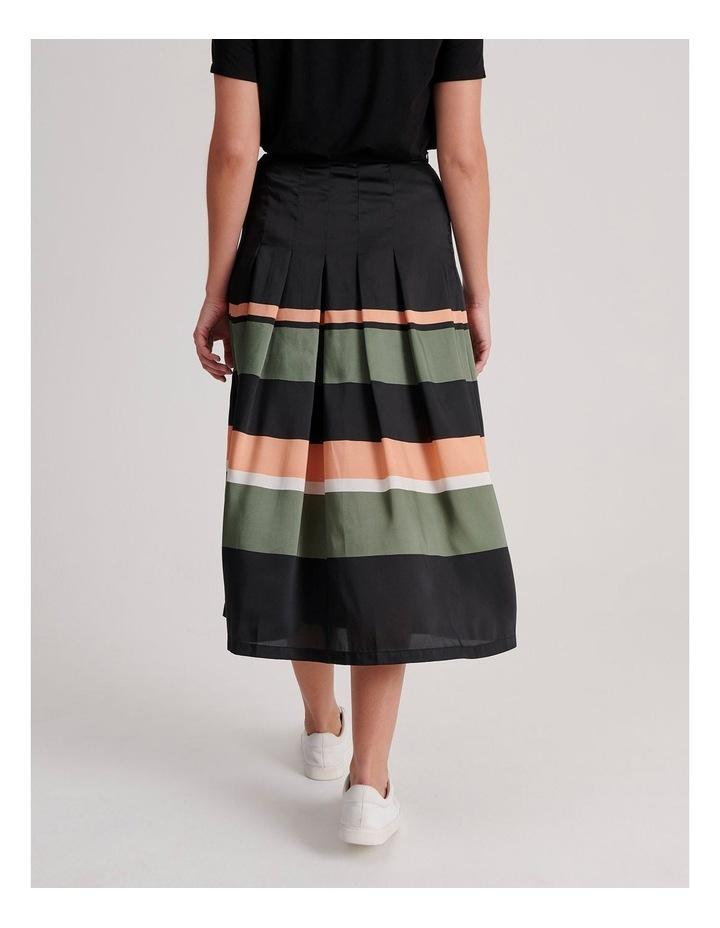 Tuck Detail Midi Skirt image 4